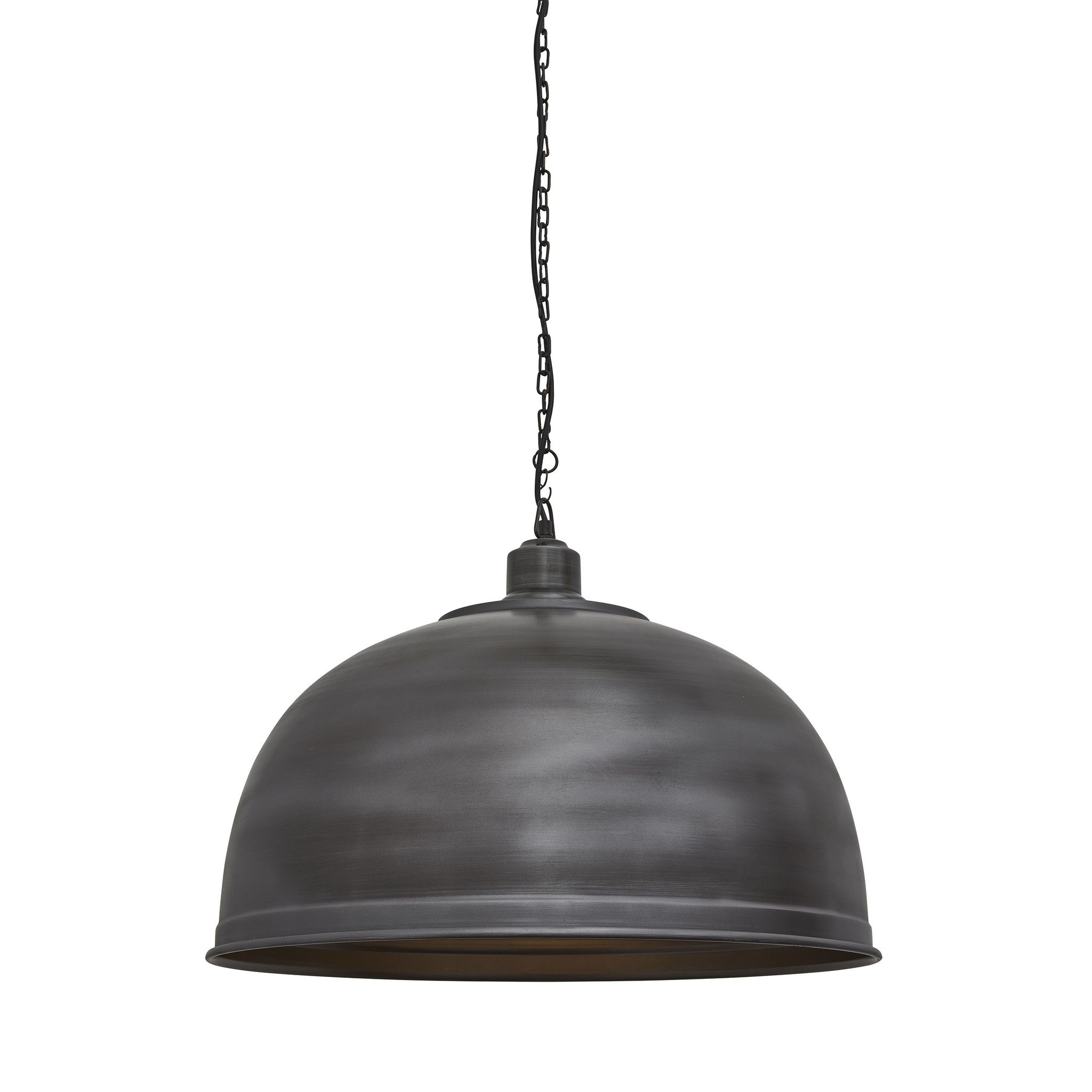 Brooklyn Giant Dome Pendant 23 5 Inch Pewter