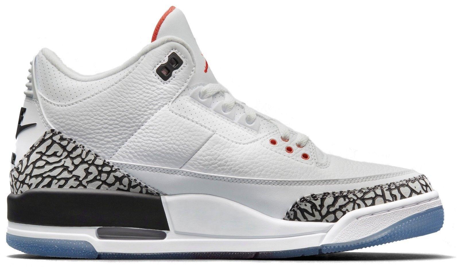 Nike Air Jordan 3 Free Throw Line White Cement Retro III OG 88 outlet 923096 101