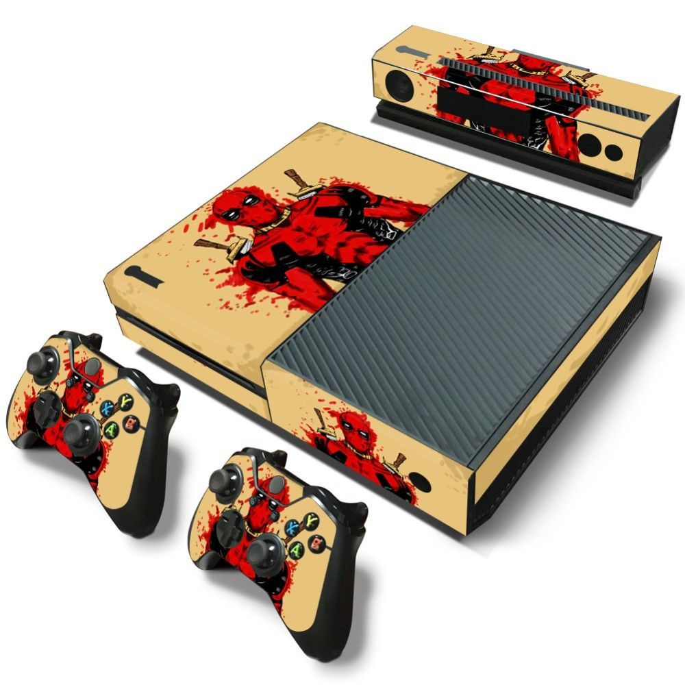 Xbox One Skin  Deadpool 10 Designs To Chose From ! Includes: Console Skin  Kinect