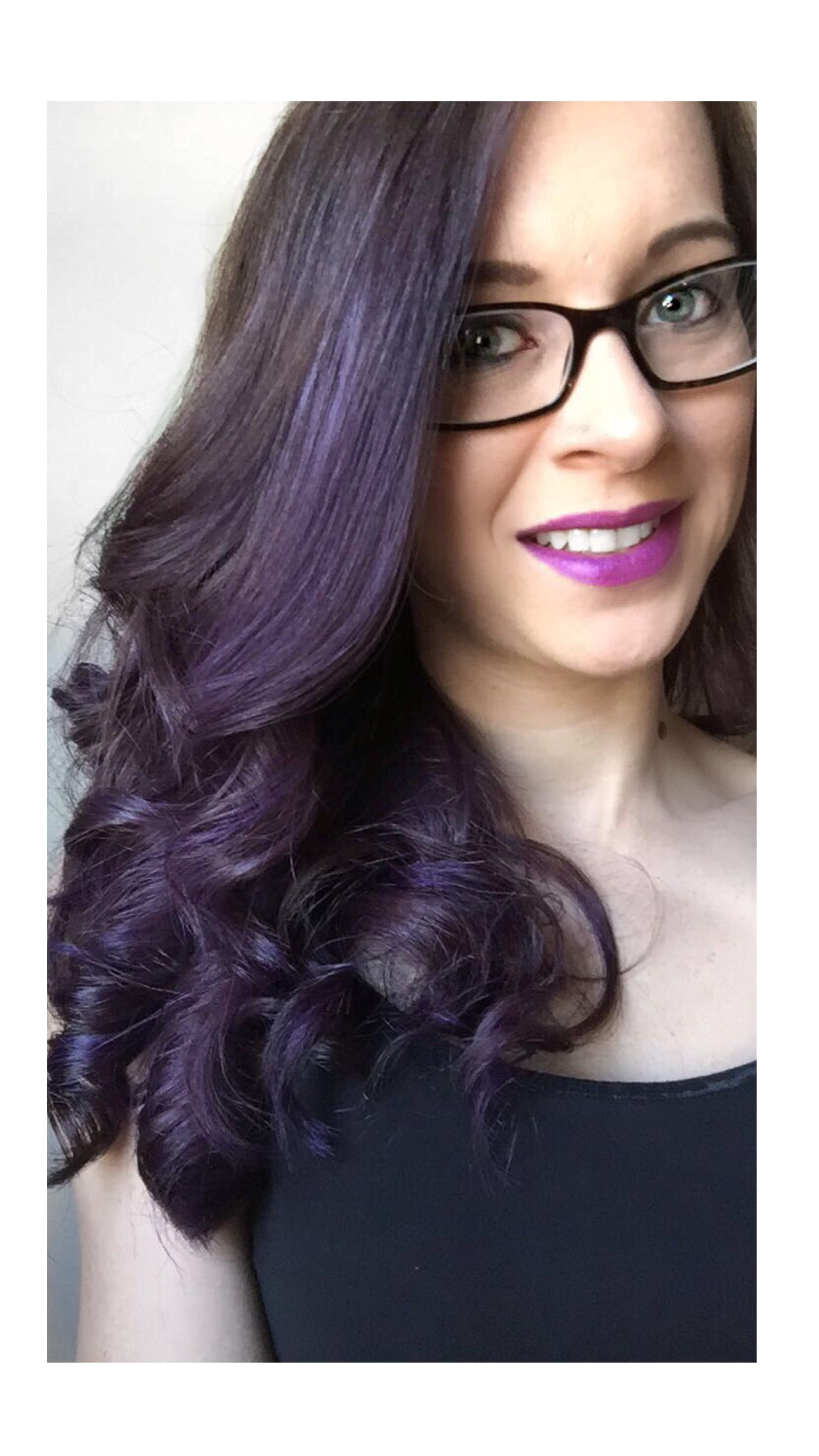 Deep Purple Overtone Treatment On Unbleached Brown Hair