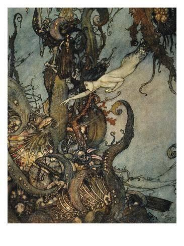 Andersen: Little Mermaid Giclee Print by Edmund Dulac ...