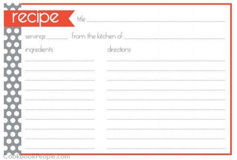 free printable christmas recipe cards Recipe Card 4x6 Christmas - free recipe card templates for microsoft word