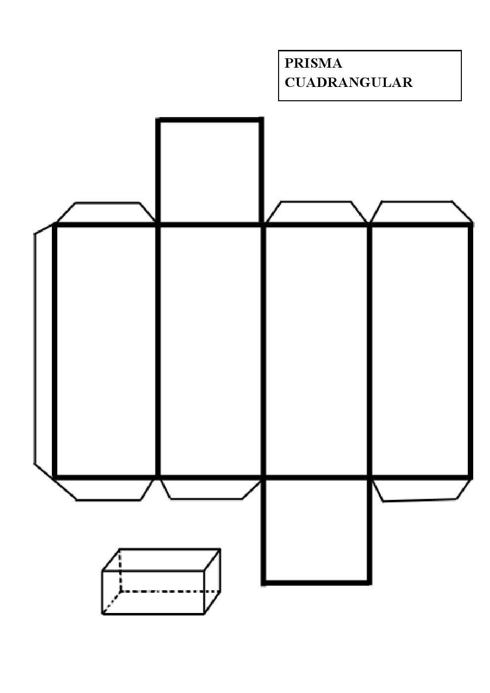 Construir un prisma cuadrangular | design | Pinterest | Prisma ...