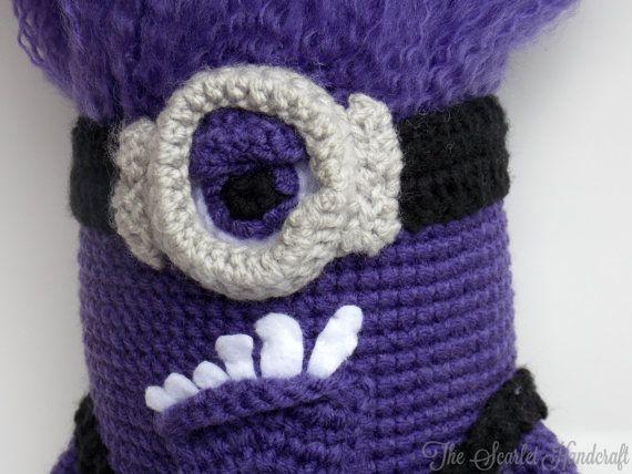 Purple Minion Amigurumi. Despicable Me Plushie. Made to Order ...
