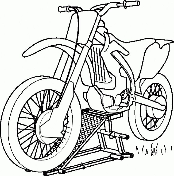 Online Printable Coloring Page Of Dirt Bike For Boys Free