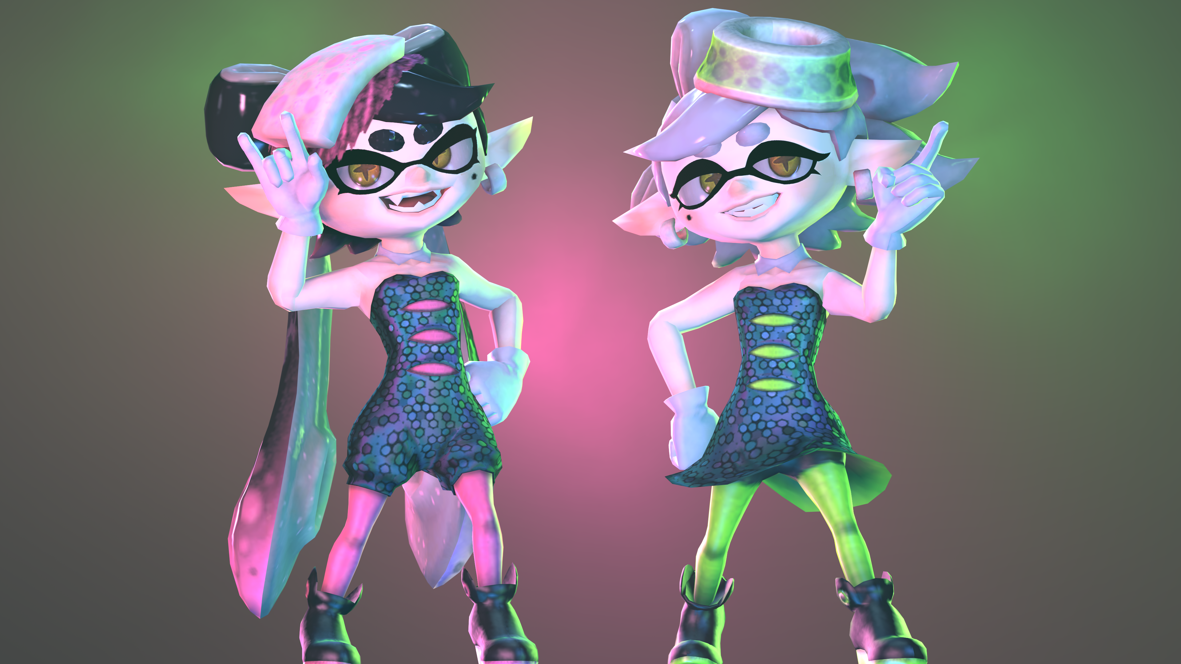 GMOD/SFM Splatoon | Cartoon Memes | Splatoon squid sisters