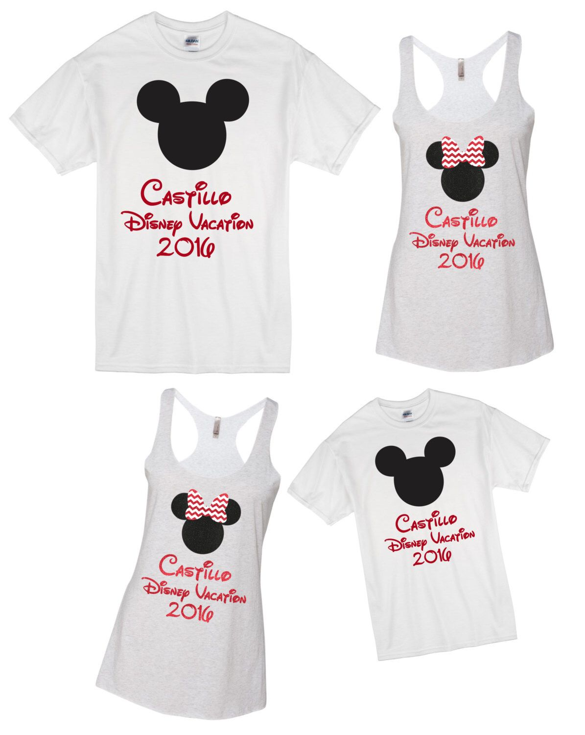Etsy Personalized Disney Family Shirts Toffee Art