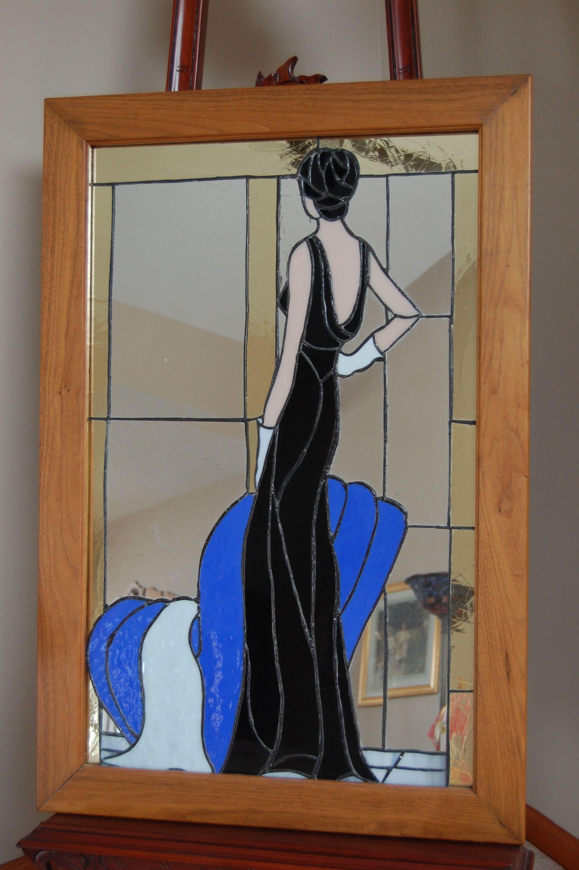 Femme r tro personnages danse pinterest femmes for Faux vitrail sur miroir