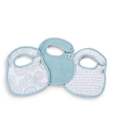 Another great find on #zulily! Sweet Circle Soft Clean Bib Set by Born Free #zulilyfinds