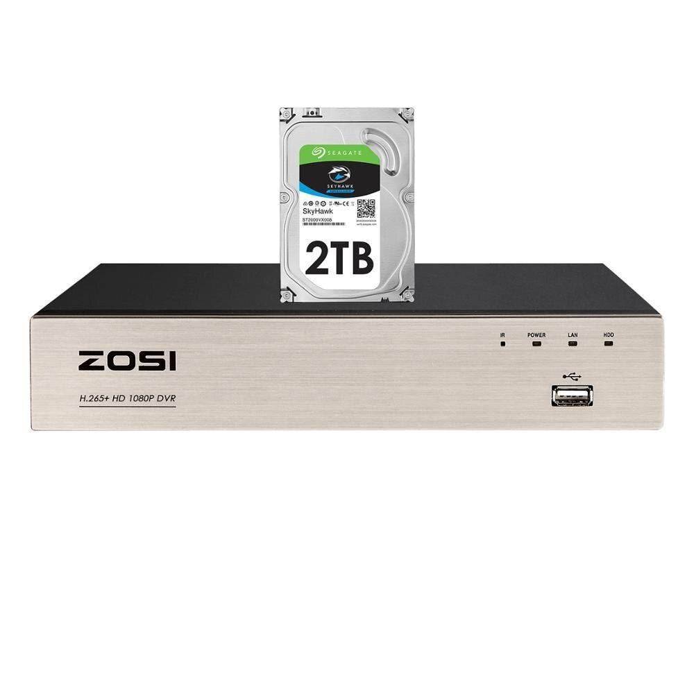 ZOSI H.265+ 4 in 1 CCTV DVR 8CH Security TVI DVR 1080P
