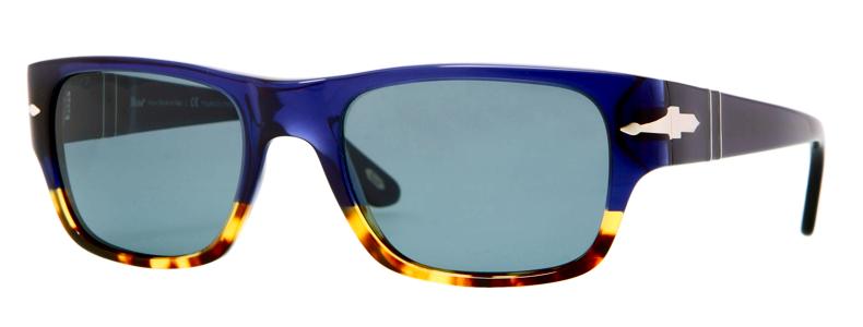 Persol - PO3021S - Frame: Blue Acetate w/ Tortoise Brown - Lens: Polarized/Photochromatic Blue