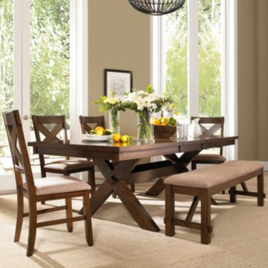 Lansford 6 Pc Dining Set Found At Jcpenney Wooden Dining Table Set