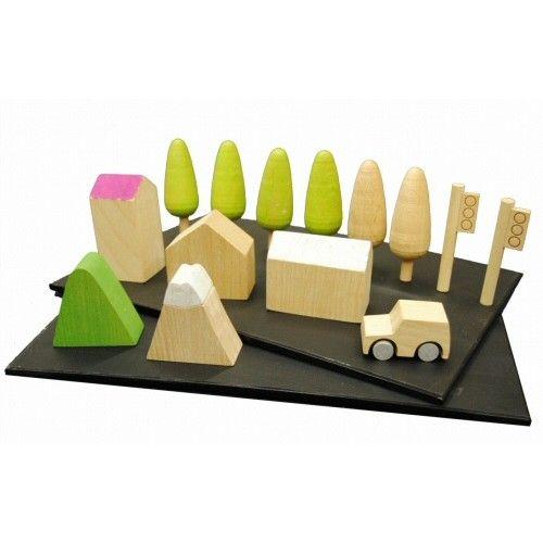 Kiko* Machi houten speelset village 5 jr+
