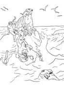 Noah The Great Flood Coloring Page Coloring Pictures For Kids Coloring Pages Coloring Pictures