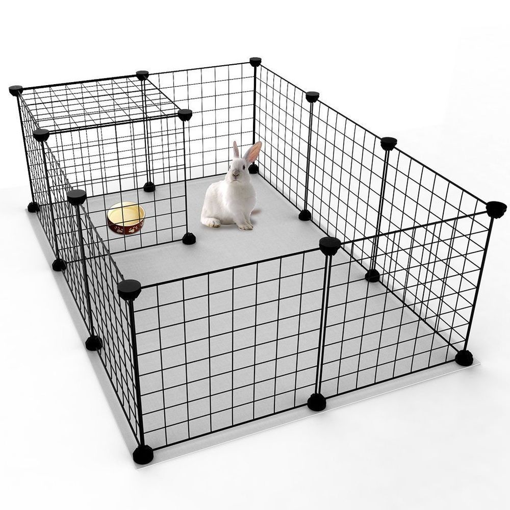 Rabbit Play Pen House Small Animal Indoor Portable Metal Wire Fence ...