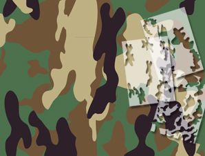 Woodland camouflage stencils spray paint camouflage for Camo paint template