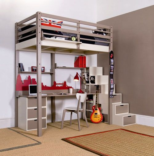 Cool Loft Bed Design For Kids Teenage And Adult Boys