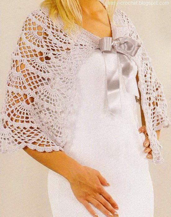 Stylish Easy Crochet: Lace Capelet - Cochet Lace - Women Cape For ...