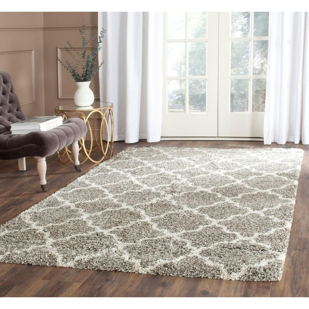 Safavieh Hudson Shag Ivory Gray 2 Ft X 8 Ft Runner Rug Sgh282a 28 The Home Depot Rugs In Living Room Indoor Area Rugs Rugs