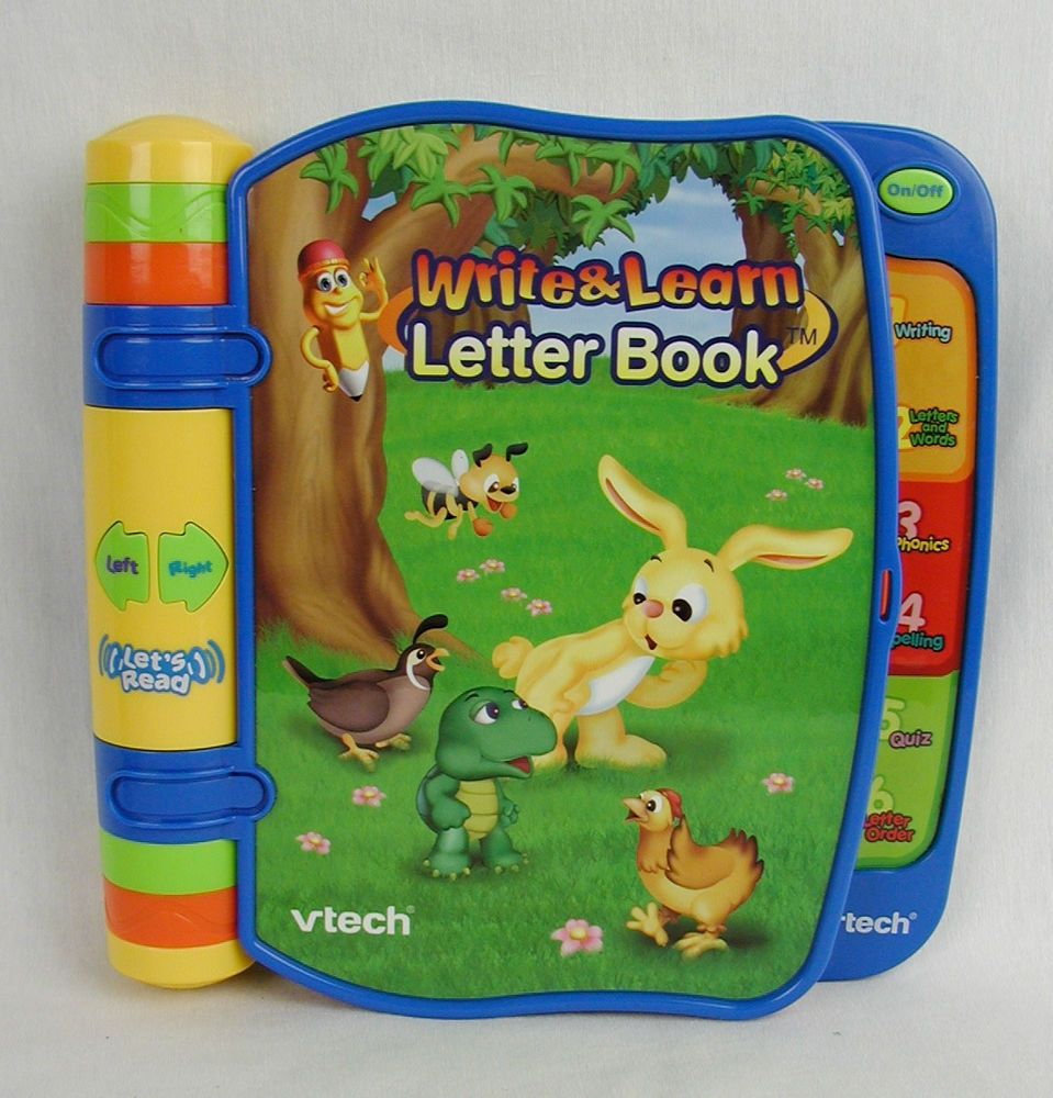 vtech write learn letter book electronic alphabet abc talking interactive