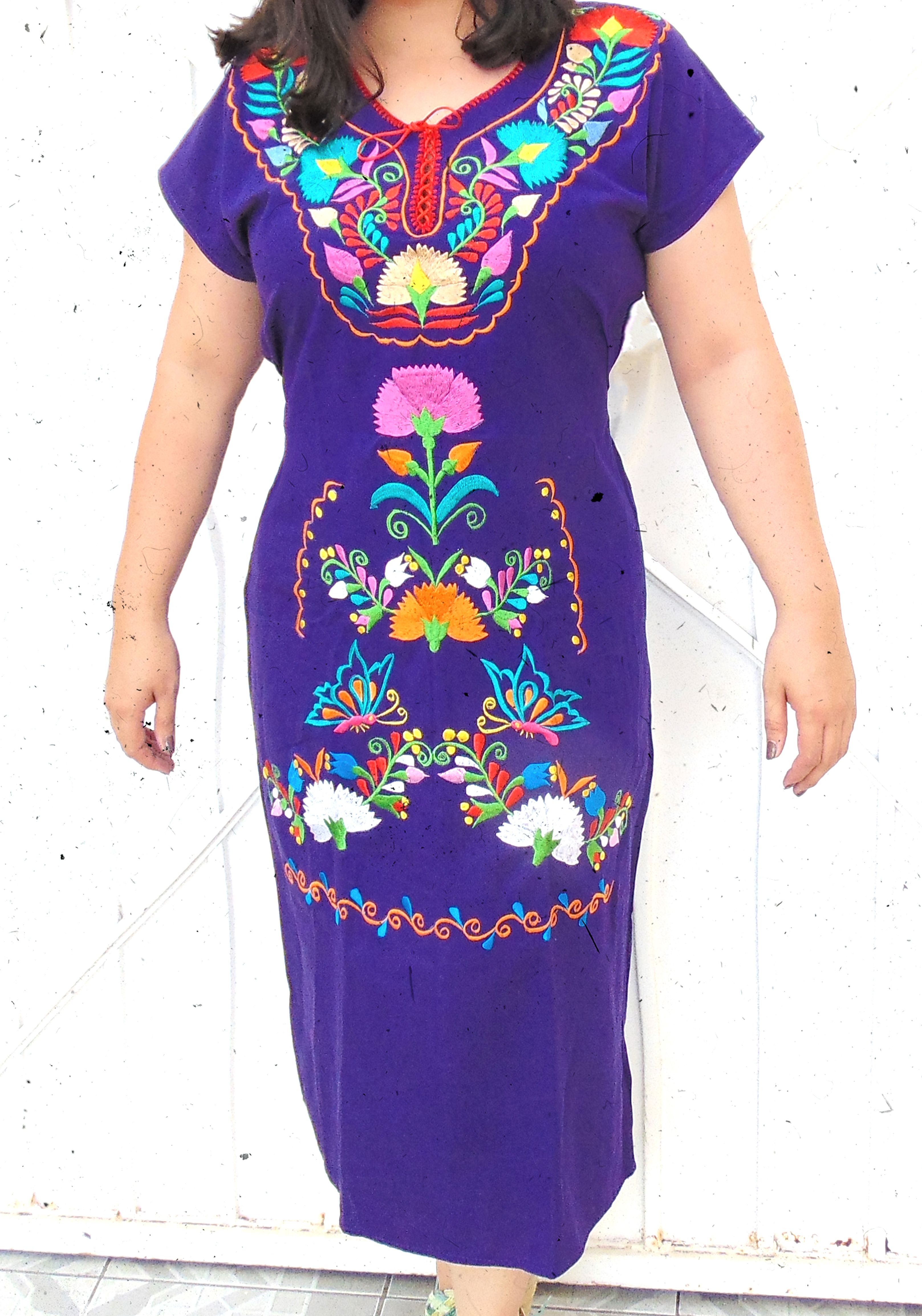 Traditional Mexican Dress, Frida Kahlo Dress, Mexican Tunic Dress ...