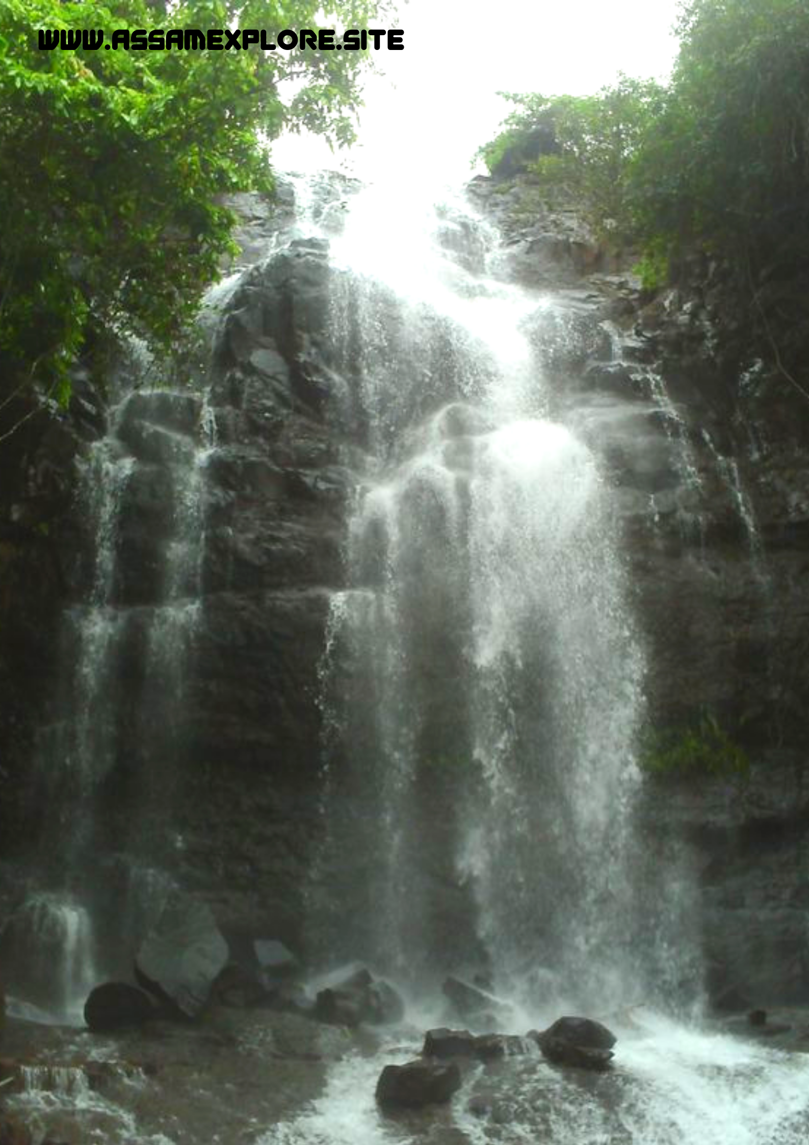 Kakochang Waterfall Bokakhat, Assam Waterfall