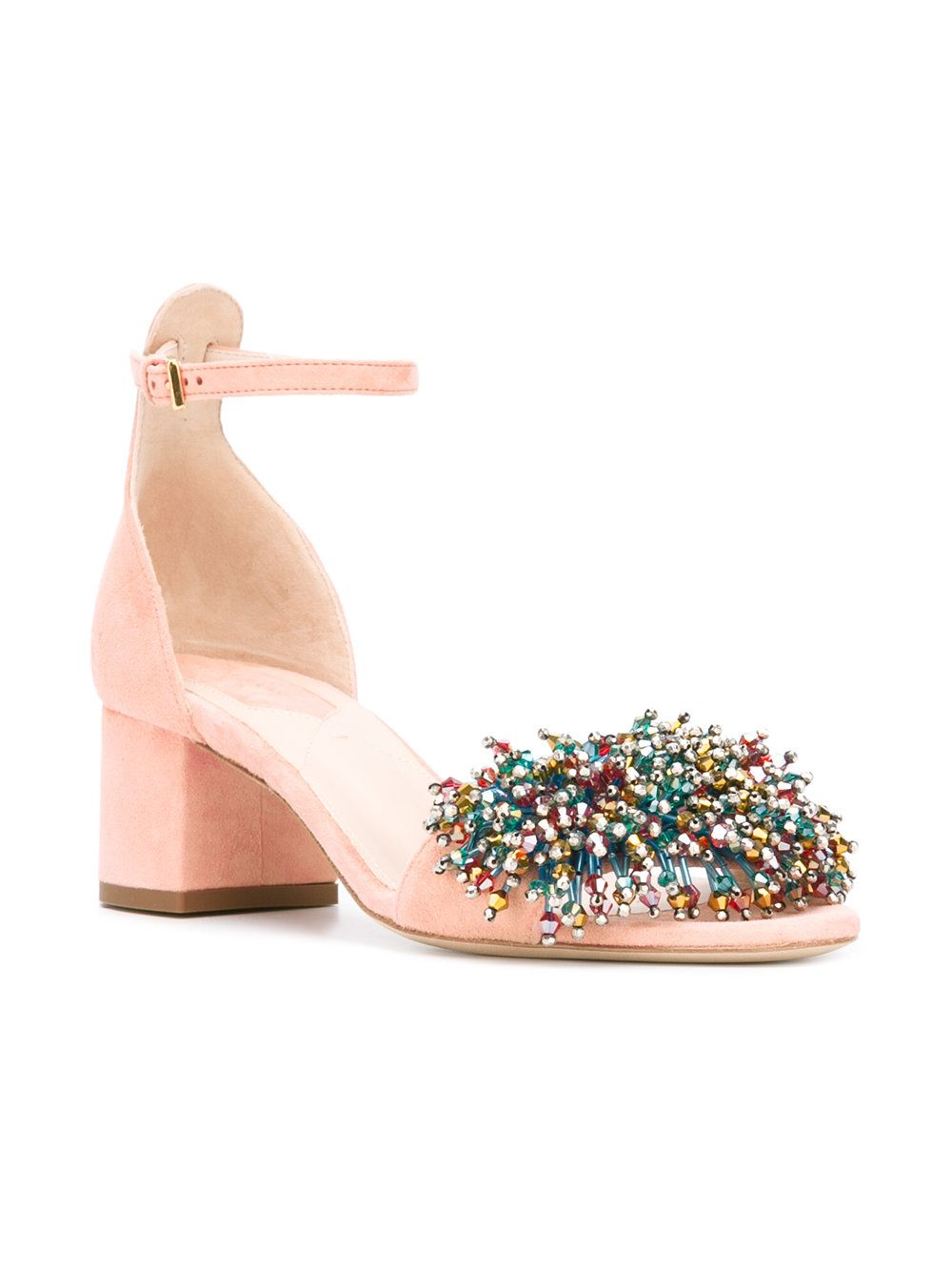 Elie Saab bead embellished sandals
