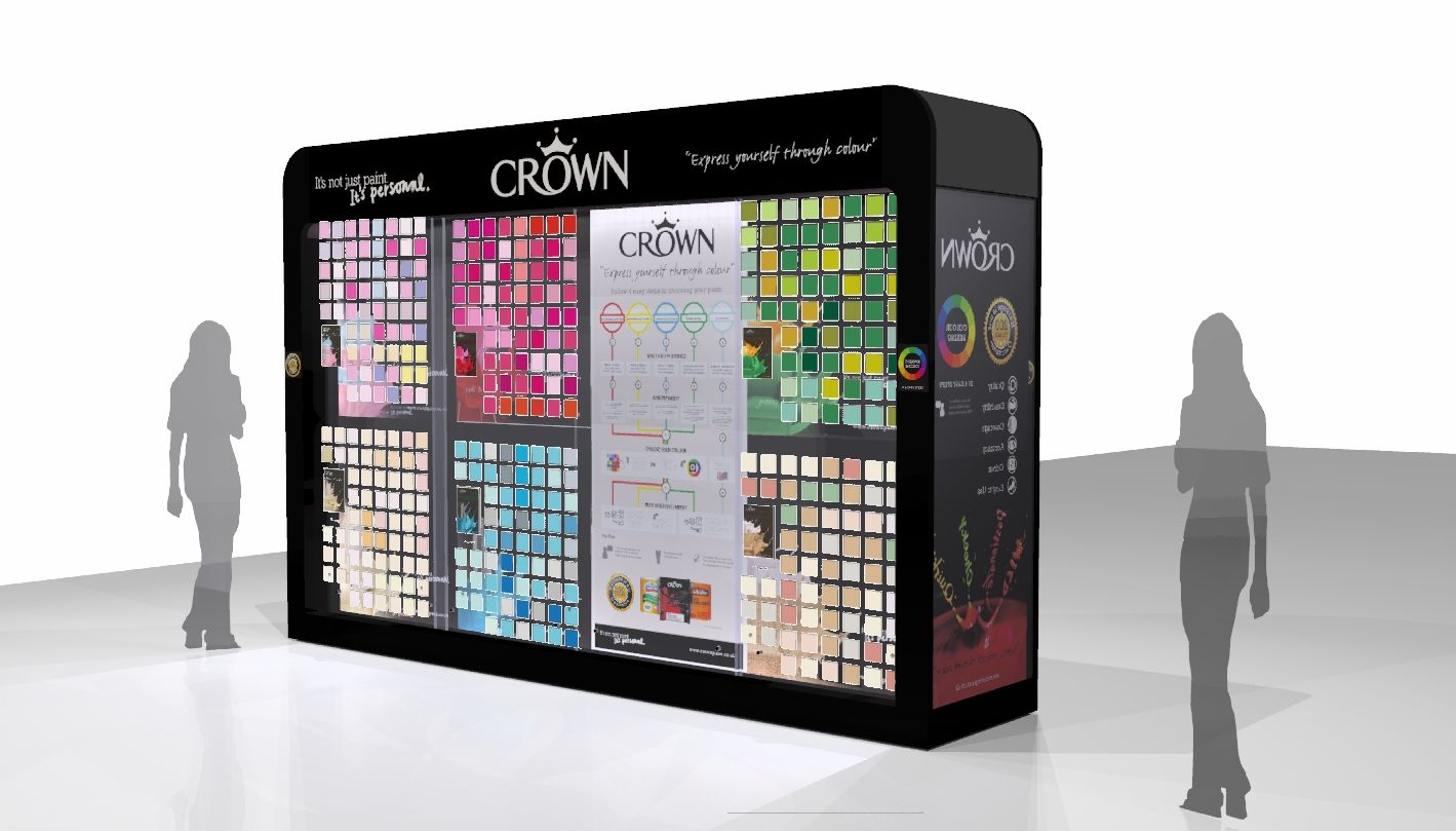 Crown Paints Retail Pos Display By Ibe Ie Crown Paints Retail Design Pos Display