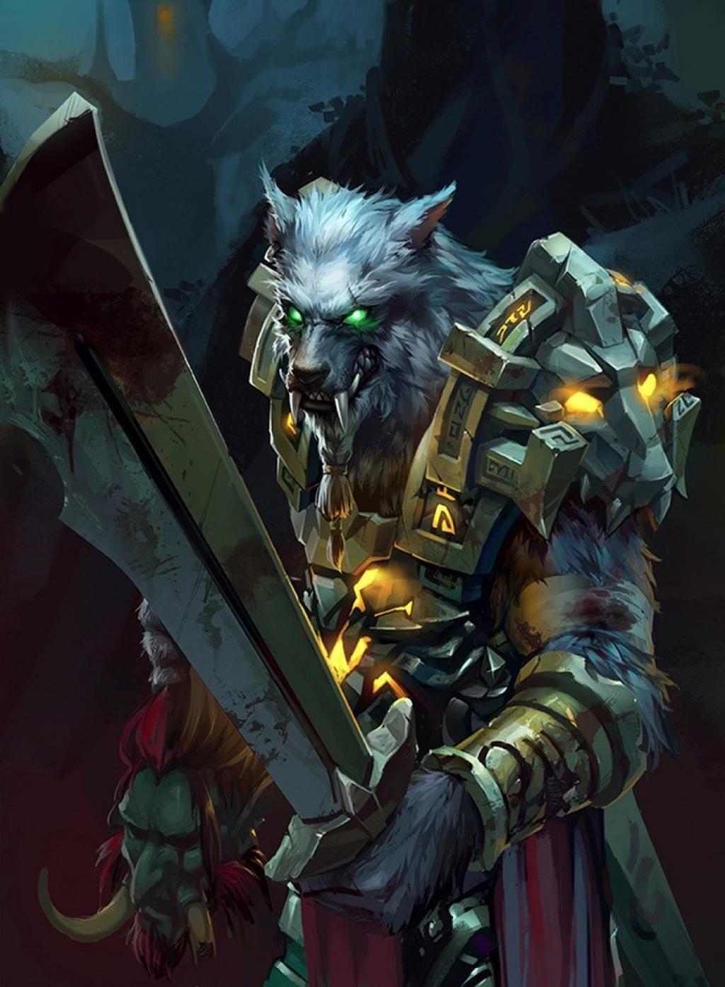 Worgen Warrior By 加林 仙人 In 2019 Warcraft Art World Of