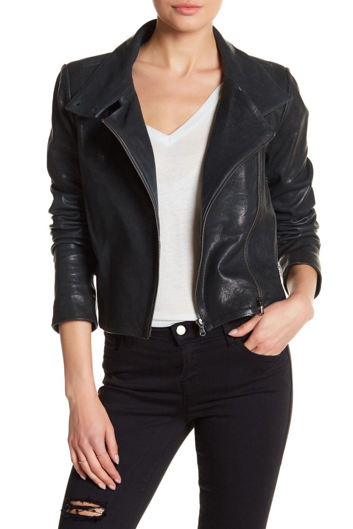 Classic in black + white. J Brand Connix Genuine Leather