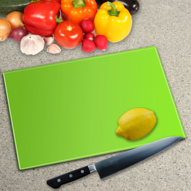 Lime Green Toughened Gl Worktop Saver Chopping Board