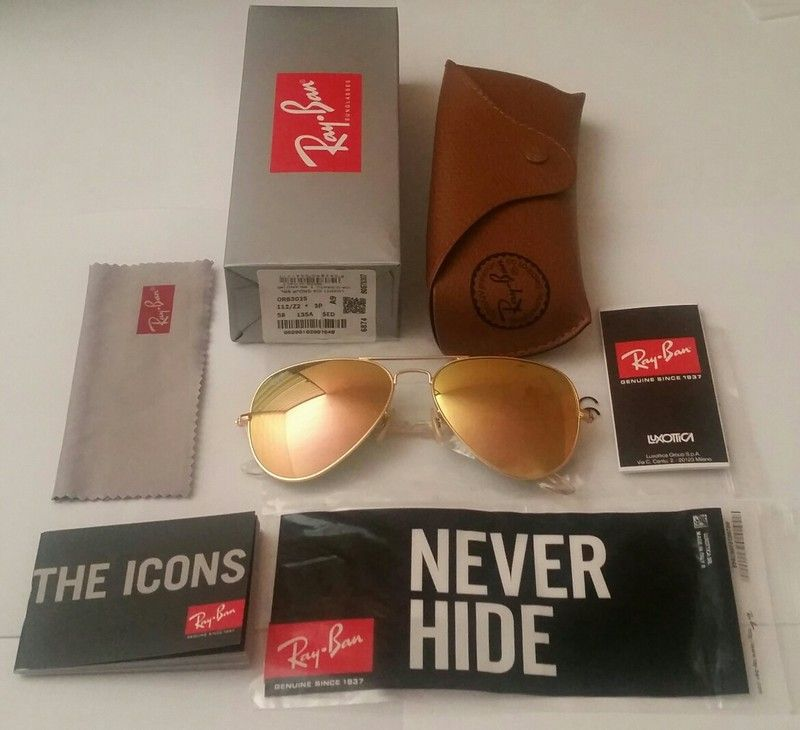 Authentic RAY-BAN 3025 112 / Z2 Copper flash / Rose Gold Mirrored ...