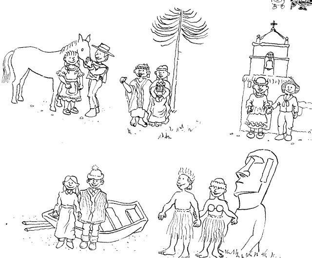 Resultado De Imagen Para La Familia Indigena Para Ninos Chile Para Ninos Murales Escolares Imagenes De Familia