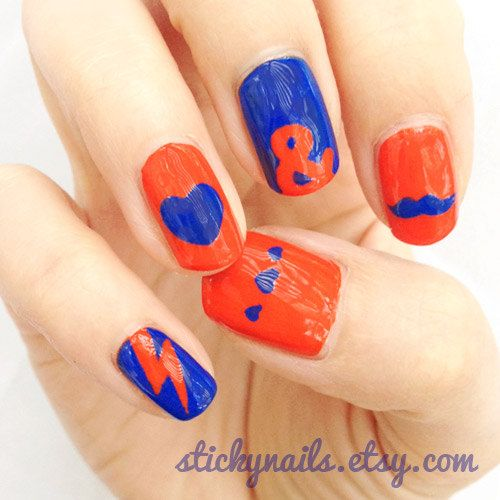 Accent Nail Art Stencils Mustaches Hearts Lightning Bolts And Ampersands Nail Art Stencils Nail Art Nail Stencils
