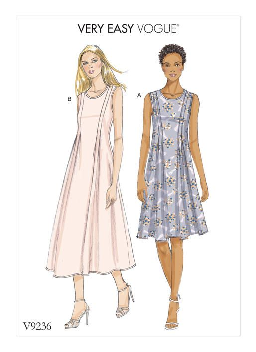 Very Easy Vogue Sewing Pattern V9236 Misses Released Pleat Fit
