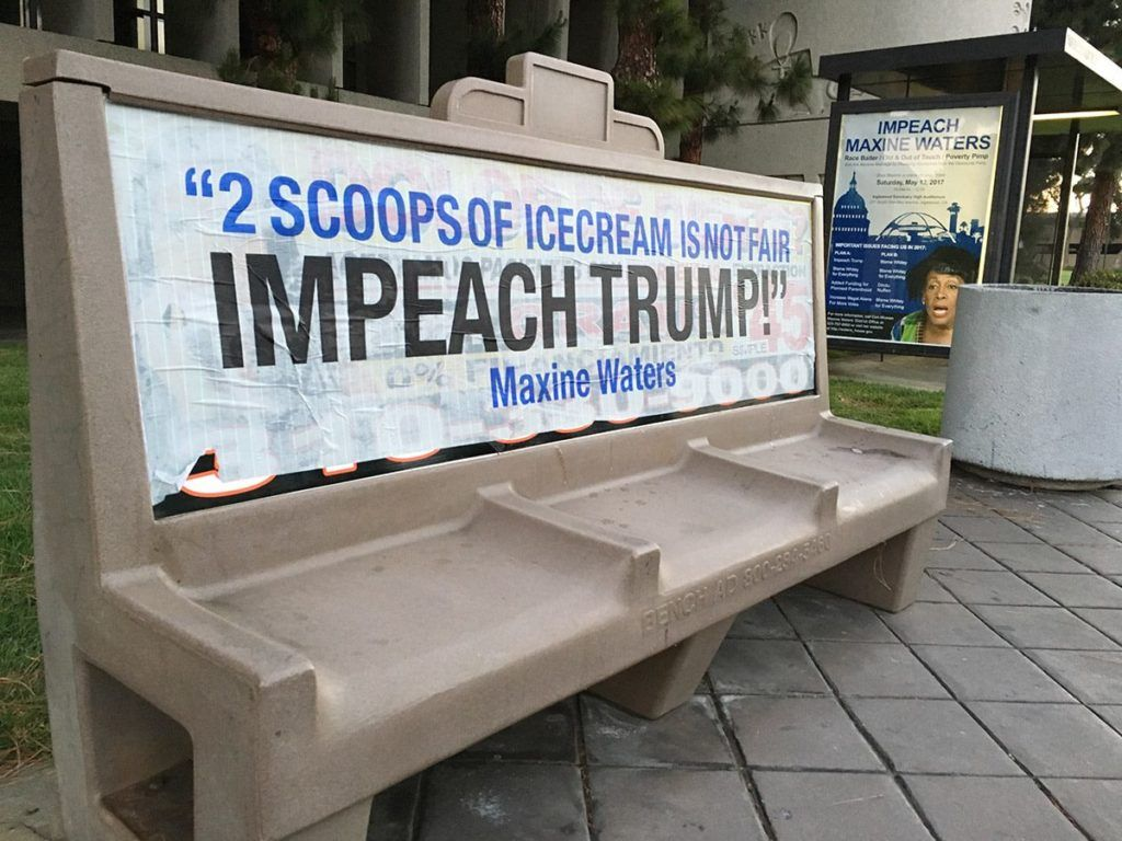 'Impeach Maxine Waters' street art appears near Inglewood