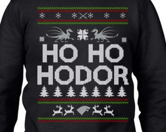 Ugly Christmas Sweater Party Game Of Thrones Hodor by ApparelAreUs ...