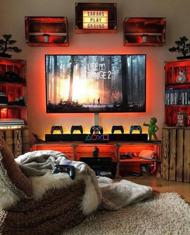 10 Game Room Decoration Ideas To Transform Your Spare Bedroom In 2020 Video Game Room Design Video Game Room Decor Boy Bedroom Design