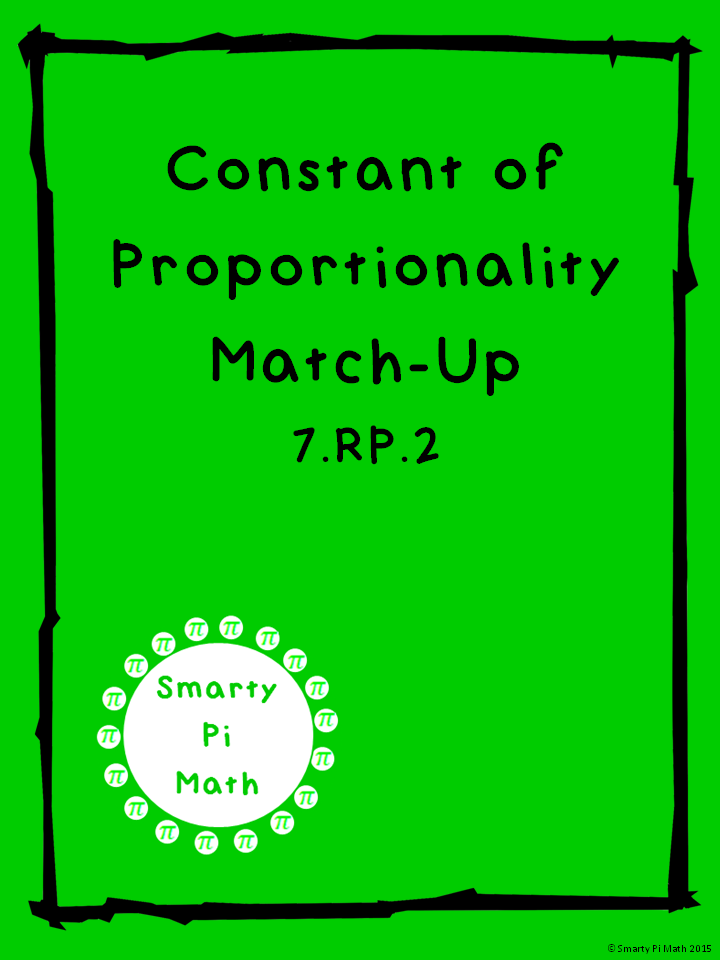 Constant Of Proportionality Matching 7rp2 School Math