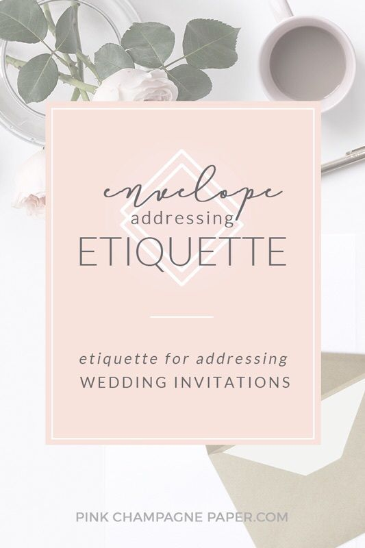 Etiquette Guide To Addressing Envelopes