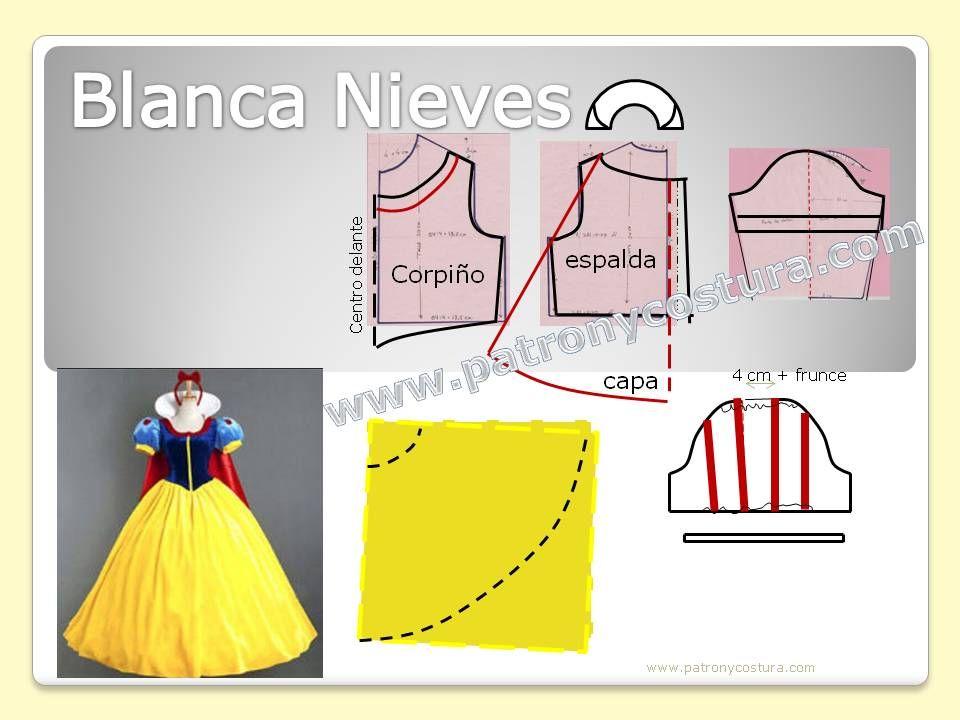 Blanca Nieves disfraz diy. Tema 201 | Kids - Pattern for Kids ...
