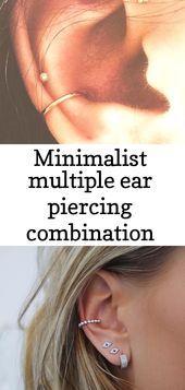 Minimalist multiple ear piercing combination ideas cartilage conch helix earring 2   - Piercings - #cartilage #Combination #conch #ear #Earring #Helix #ideas #minimalist #Multiple #piercing #Piercings #earpiercingideas