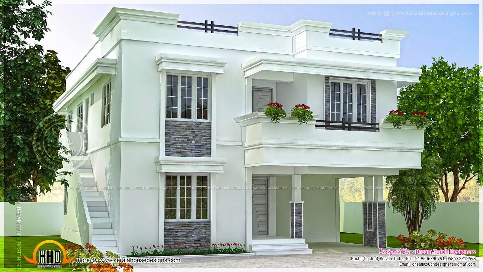 Modern beautiful home modern beautiful home design indian for Kerala home designs contemporary