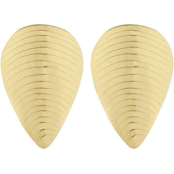 Anna + Nina Shell Earrings- Goldplated (102,705 KRW) ❤ liked on Polyvore featuring jewelry, earrings, silver, gold plated earrings, gold plated jewellery, earring jewelry, shell earrings and seashell jewelry