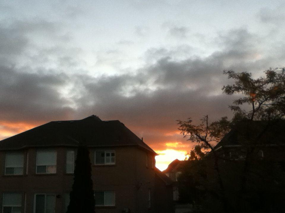 Sun was setting