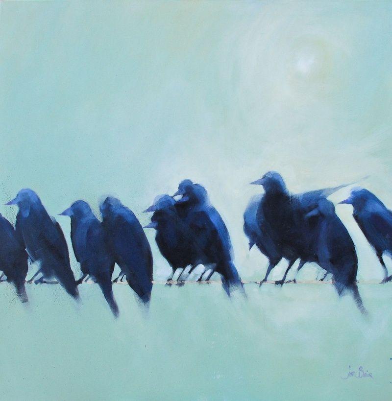 Jane Blair, oil on canvas, 100 x 100 cm, £1500. #10080 SOLD