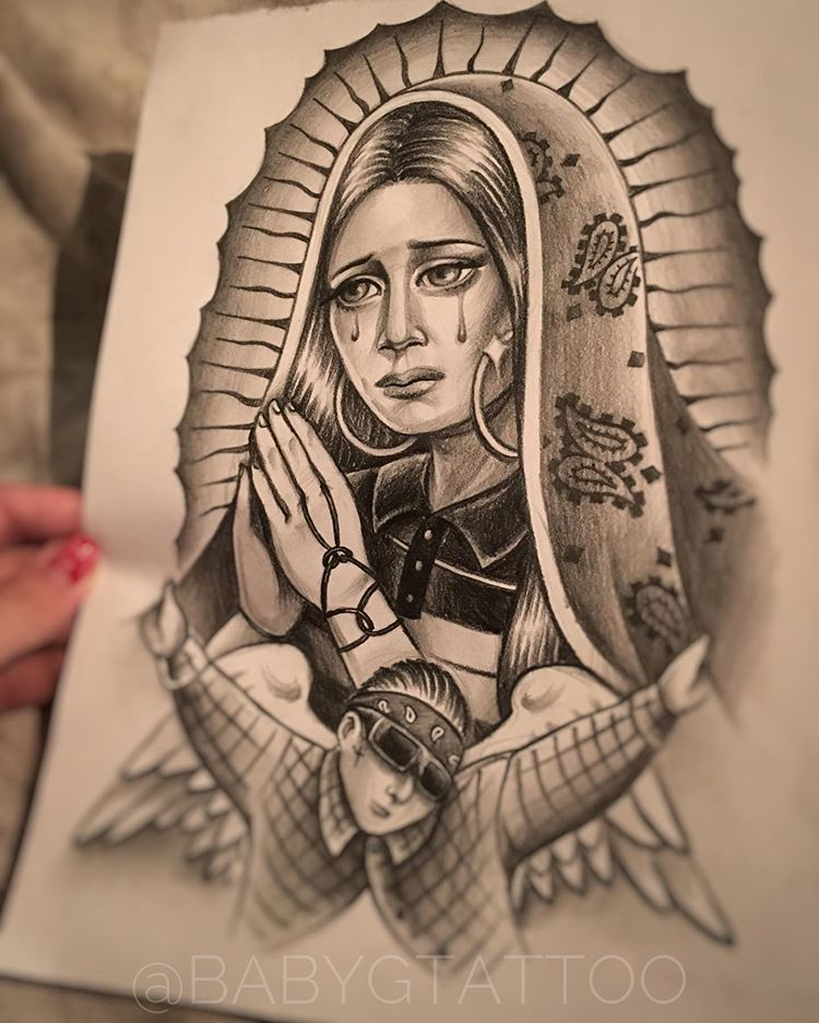 """Chicano Art and Tattoo on Instagram: """"✨I praying for you, please pray for me"""