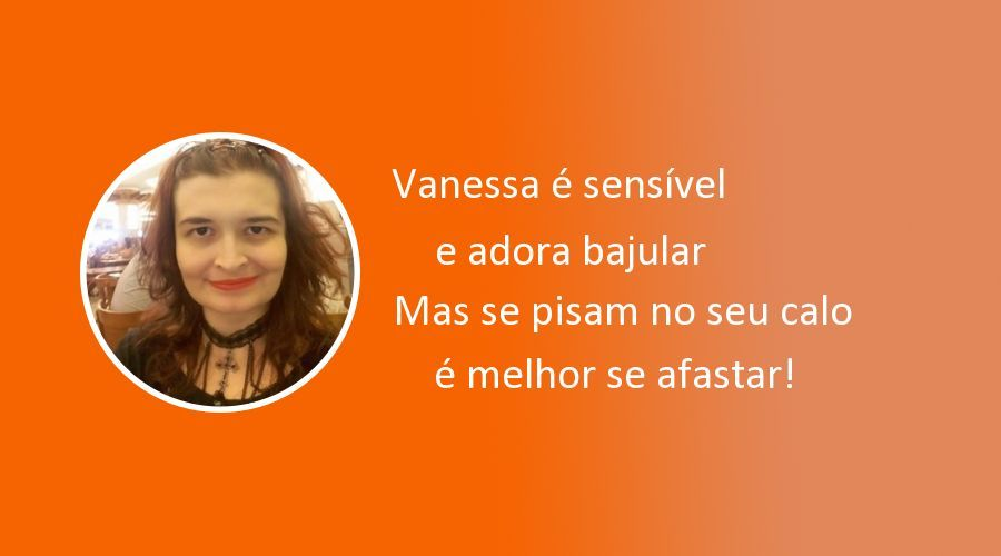 Essa é sua rima, Vanessa!