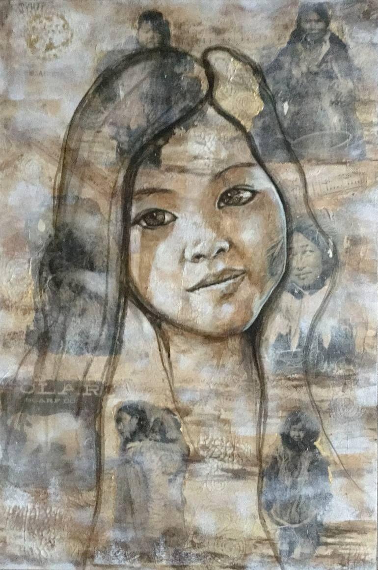Original Portrait Painting By Niwan Yod