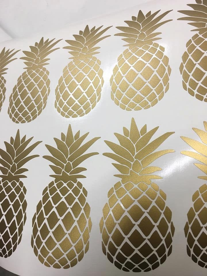 gold pineapple decor wall decals wall sticker home decor on wall stickers for home id=97994